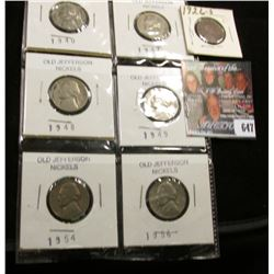 1940S, 47S, 48D, 49P, 54S, & 56D Better grade Jefferson Nickels; & 1926 S Scarce Date Lincoln Cent,
