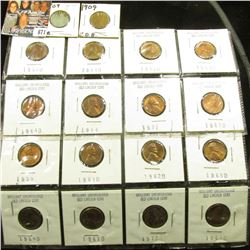 (18) Better Lincoln Cents in holders including a pair of 1909 P VDB in EF..