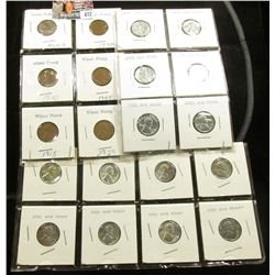 (20) Better Lincoln Cents in holders including a nice group of Steel WW II Cents.