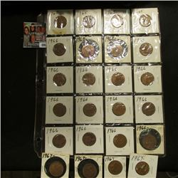 20-Pocket Plastic Page with a collection of (24) Great Britain Half Pennies dated 1965-67. Several h