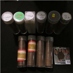 "(10) Rolls of Lincoln Cents in plastic tubes, all marked ""S"" or ""S Wheats, a cursory look indicates"
