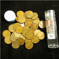 1909 P VDB Solid-date Roll of Lincoln Cents (50 pcs.) Many coins in this roll grade EF.
