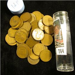 1912 P Solid-date Roll of Lincoln Cents (54 pcs.) Grades average VG in this group.