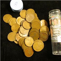 1913 P Solid-date Roll of Lincoln Cents (56 pcs.) Grades average VG in this group.