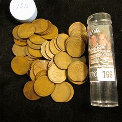1913 D Solid-date Roll of Lincoln Cents (56 pcs.) Grades up to Fine.
