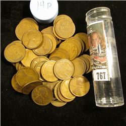 1914 P Solid-date Roll of Lincoln Cents (56 pcs.) Grades up to Fine.