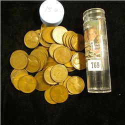 1915 D Solid-date Roll of Lincoln Cents (56 pcs.) Grades up to Fine.
