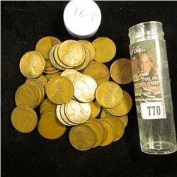 1916 P Solid-date Roll of Lincoln Cents (55 pcs.) Grades up to Fine.