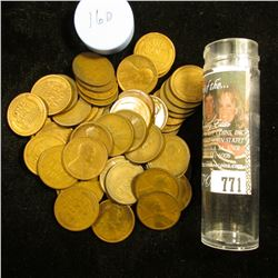 1916 D Solid-date Roll of Lincoln Cents (56 pcs.) Grades up to Fine.