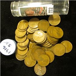 1916 S Solid-date Roll of Lincoln Cents (56 pcs.) Grades up to Fine.