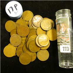1917 P Solid-date Roll of Lincoln Cents (54 pcs.) Average circulated.