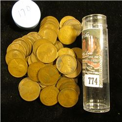 1917 D Solid-date Roll of Lincoln Cents (55 pcs.) Average circulated.