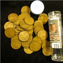 1917 S Solid-date Roll of Lincoln Cents (55 pcs.) Average circulated.