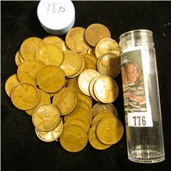 1918 P Solid-date Roll of Lincoln Cents (54 pcs.) Grades up to Fine.