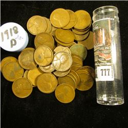 1918 D Solid-date Roll of Lincoln Cents (55 pcs.) Grades up to Fine.