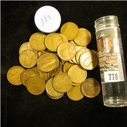 1918 S Solid-date Roll of Lincoln Cents (53 pcs.) Grades up to Fine.