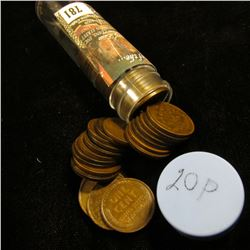 1920 P Solid-date Roll of Lincoln Cents (52 pcs.) Several pieces grade Extra Fine.