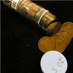 1920 S Solid-date Roll of Lincoln Cents (55 pcs.) Average circulated.