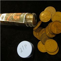 1921 P Solid-date Roll of Lincoln Cents (53 pcs.) Several pieces grade Fine.