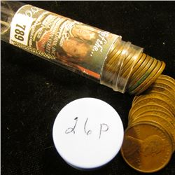 1926 P Solid-date Roll of Lincoln Cents (more than 50 pcs.) Grades up to Extra Fine.