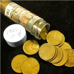 1926 D Solid-date Roll of Lincoln Cents (55 pcs.) Grades up to Fine.