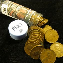 1927 D Solid-date Roll of Lincoln Cents (more than 50 pcs.) Grades up to Very Fine.