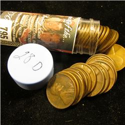 1928 D Solid-date Roll of Lincoln Cents (more than 50 pcs.) Grades up to Very Fine.