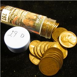 1929 D Solid-date Roll of Lincoln Cents (more than 50 pcs.) Grades up to EF.