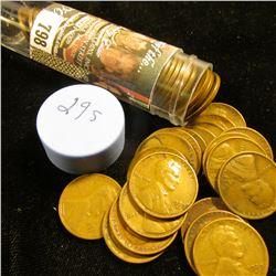 1929 S Solid-date Roll of Lincoln Cents (more than 50 pcs.) Grades up to VF.