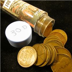 1930 D Solid-date Roll of Lincoln Cents (more than 50 pcs.) Grades up to EF.