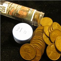 1931 D Solid-date Roll of Lincoln Cents (more than 50 pcs.) Many grade up to EF.