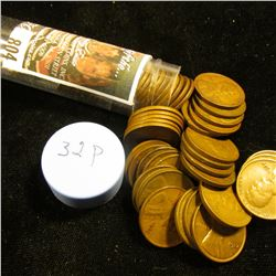 1932 P Solid-date Roll of Lincoln Cents (more than 50 pcs.) Many grade up to EF.
