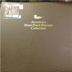 """Booklet """"The Federal Duck Stamp Celebrating 75 Years"""" & a 1987 Album """"America's State Duck Stamps Co"""