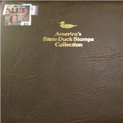"""1988 Album """"America's State Duck Stamps Collection A complete mint stamp collection of new and beaut"""