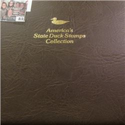 """1989 Album """"America's State Duck Stamps Collection A complete mint stamp collection of new and beaut"""
