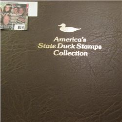 """1990 Album """"America's State Duck Stamps Collection A complete mint stamp collection of new and beaut"""