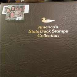 """1991 Album """"America's State Duck Stamps Collection A complete mint stamp collection of new and beaut"""