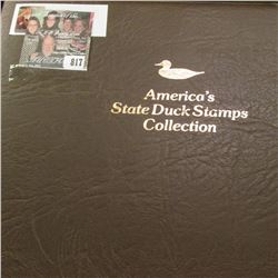 """1993 Album """"America's State Duck Stamps Collection A complete mint stamp collection of new and beaut"""