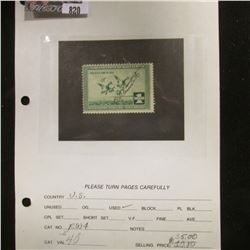 RW4 1937 Signed  U.S. Department of Agriculture Migratory Bird Stamps.