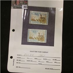 Pair of RW28 1961 U.S. Department of Agriculture Migratory Bird Stamps, one signed with partial gum,