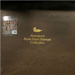 """1995 Album """"America's State Duck Stamps Collection A complete mint stamp collection of new and beaut"""