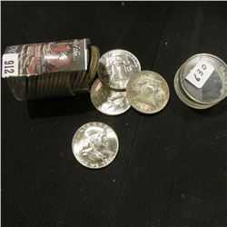 1963 D Original BU Roll of Franklin Silver Half Dollars. (20 pcs.)