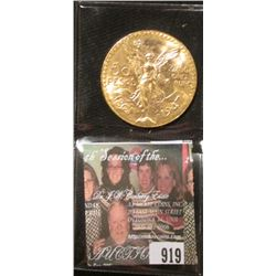 1821 1947 Mexico Gold Fifty Peso. Brilliant Uncirculated. Contains 37.5 grams of Pure Gold, Depicts