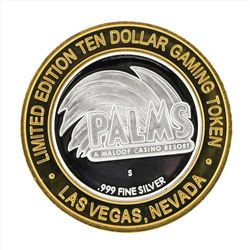 .999 Silver Palms A Maloof Casino Resort $10 Casino Gaming Token Limited Edition