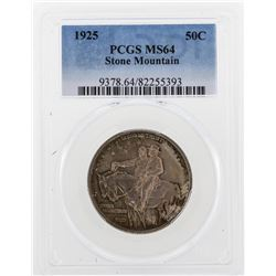 1925 Stone Mountain Commemorative Half Dollar Coin PCGS MS64