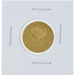 1881-S $5 Liberty Head Half Eagle Gold Coin