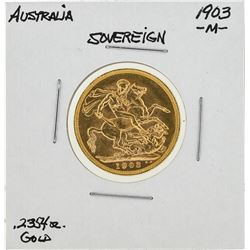 1903-M Australia Gold Sovereign Coin