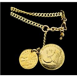18KT Yellow Gold Medallion Watch Fob