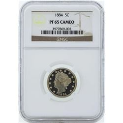 1884 Liberty V Proof Nickel Coin NGC PF65 Cameo