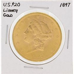1897 $20 Liberty Head Double Eagle Gold Coin